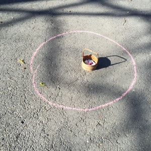 a circle of chalk.  how long will it last?